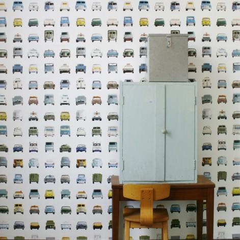 Baby Behang Jongen.Behang Studio Ditte Jongenkamer Vintage Auto S Meisjeskamer Auto