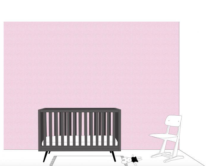 Baby Blauw Behang.Behang Roze Licht Blauw Babykamer Kinderkamer Retro Baby Shop
