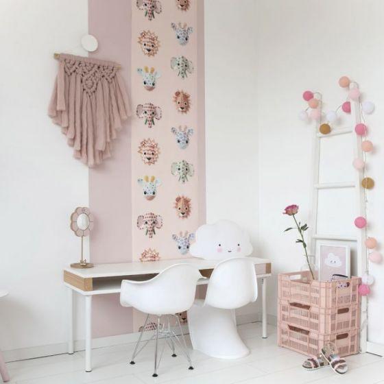Behang Baby Roze.Behang Dieren Jungle Roze Studio Ditte Wilde Dieren Behang Retro