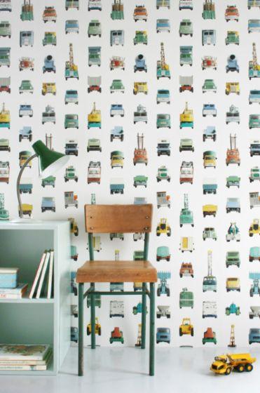 behang werk auto's studio ditte - retro baby shop, Deco ideeën