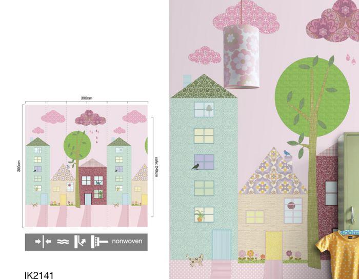 Behang Kinderkamer Roze : Kinderkamer roze elegant schattig pastel roze kinderkamer