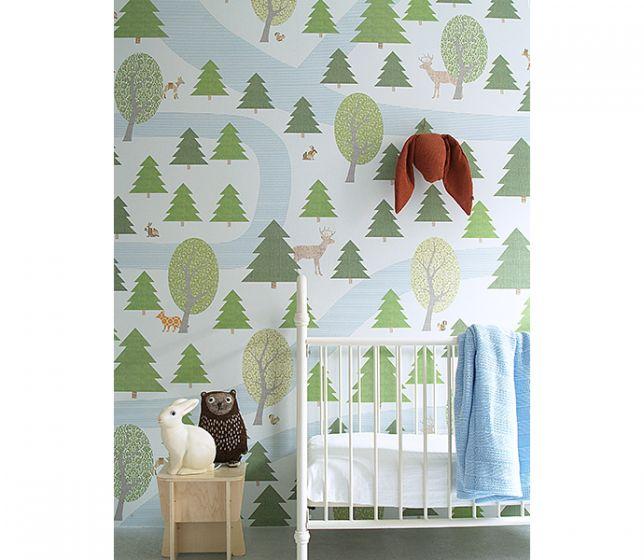 Behang Boom Kinderkamer.Behang Retro Xl Muurprint Nieuw