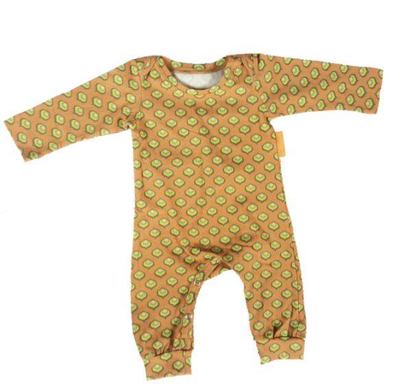 Babykleding Meisje Maat 62.Boxpak Retro Oranje Jongen Meisje Baby Maat 62 Maat 68 Jumpsuit