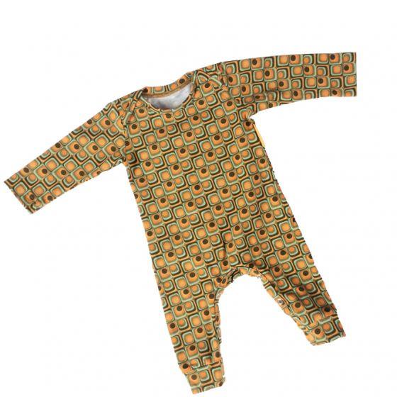 Babykleding Print.Boxpak Retro Print Oranje Jongens Meisje Baby Maat 50 Boxpakjes