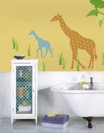 Muursticker Giraffe Kinderkamer.Muursticker Giraf Babykamer Retro Muursticker Giraffe Dieren Safari