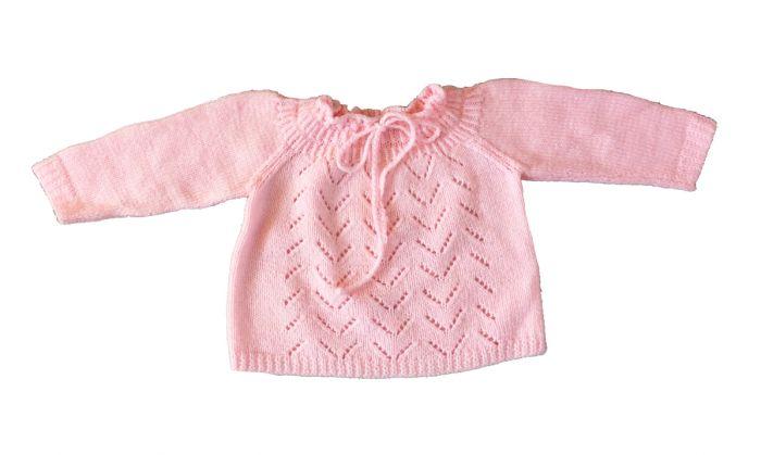 Roze Babykleding.Truitje Baby Roze Vintage Maat 74 Babytruitje Gebreid Babytrui
