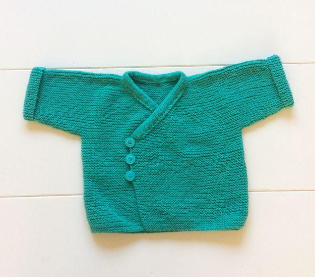 9d558d3f42ec39 Baby vestje gebreid groen 2-6 maanden maat 62-68 babyvestje vestje ...