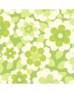 Behang retro met bloemen groen