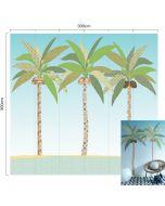 Behang XL paneel palmboom kinderkamer 300 x 300m