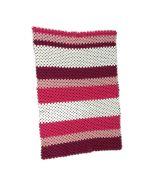 Wiegdeken gehaakt oud roze granny squares of streep