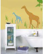 Muursticker giraf babykamer retro