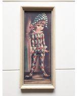Retro schilderij klein met meisje