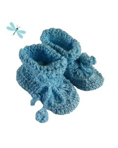 Babyslofje gehaakt licht blauw