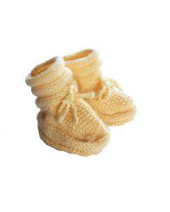 Babyslofjes geel gebreid