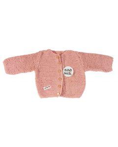 Vest baby gebreid oud roze maat 68-74