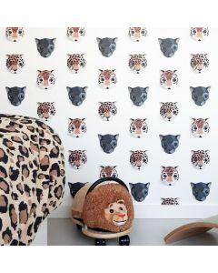 Behang panters en tijgers