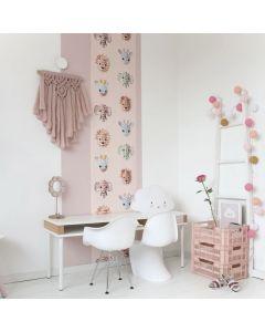 Behang dieren jungle roze