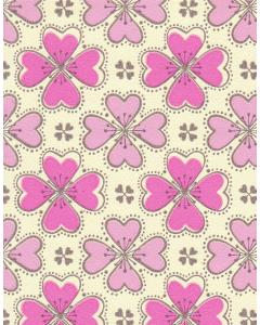 Behang bloemen retro roze 0071 Inke