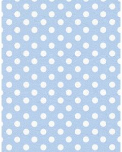 Behang met nopjes blauw kinderkamer babykamer Inke