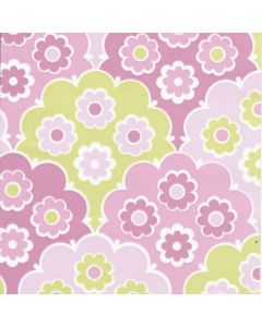 Behang retro flowers roze babykamer