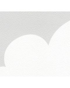 Behang met wolkjes Inke grijs