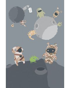 Behang Aliens muurprint XL