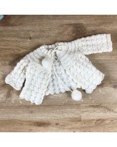 Vestje gehaakt vintage baby wit