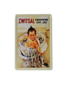 Metalen bord Zwitsal reclame baby