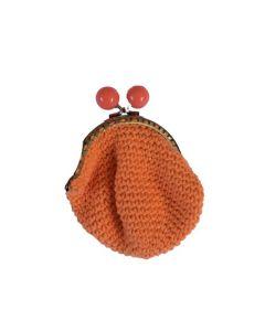 Portemonnee oranje gehaakt