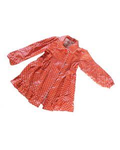 Regenjas nopjes meisje rood maat 92-98