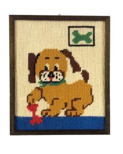 Schilderij hond retro babykamer kinderkamer