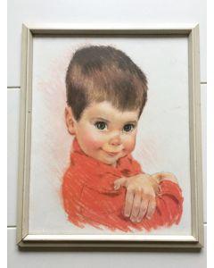 Schilderij met jongen retro