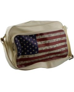 Schoudertas USA met Amerikaanse vlag