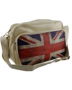 Schoudertas met vintage Engelse vlag