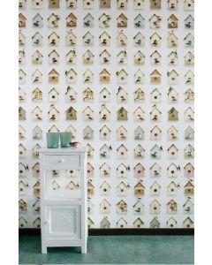 Behang vogelhuisjes Studio Ditte