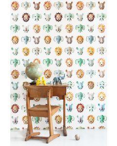 Behang wilde dieren babykamer Studio Ditte