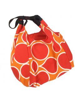 Tas Shopper retro rood oranje