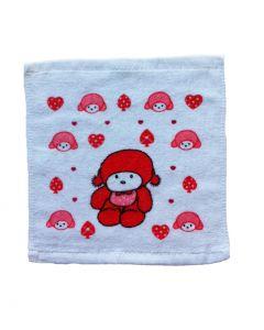 Spuugdoekje rood retro baby