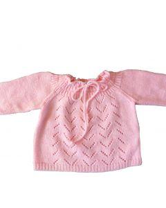 Truitje baby roze vintage maat 74