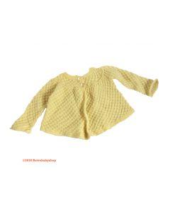 Vestje vintage zacht geel baby maat 62-68