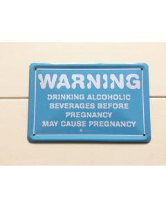 Metalen bord zwanger Warning